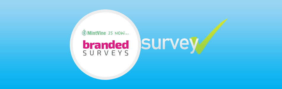 branded survey logo with background